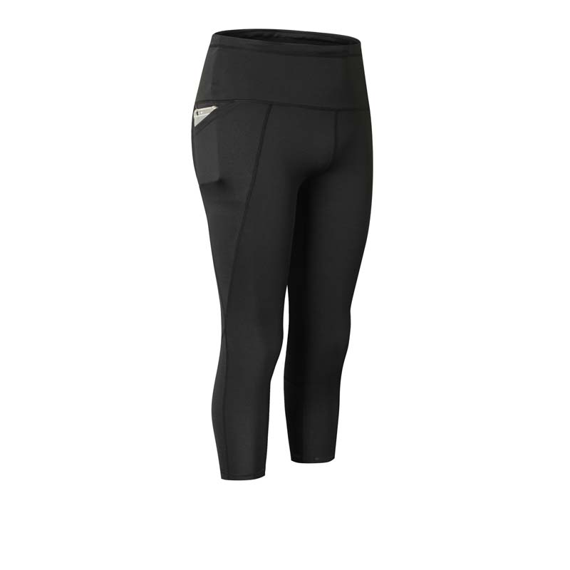 Yoga Women Fitness Pants Leggings Elastic Workout Sports Running Pant Sexy Pocket Quick Drying Training Cropped Trousers in Yoga Pants from Sports Entertainment