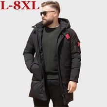 plus size 10XL 9XL 8XL XL Brand Winter Jackets Men Big Pockets Long Parkas  Windproof Thick Warm Overcoats Business Outwear Coat