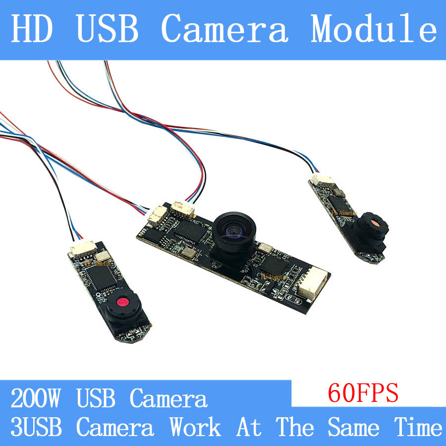 industrial Mini CCTV HD 2MP Split display three images simultaneously MJPEG 60fps USB camera module Video Surveillance Camera