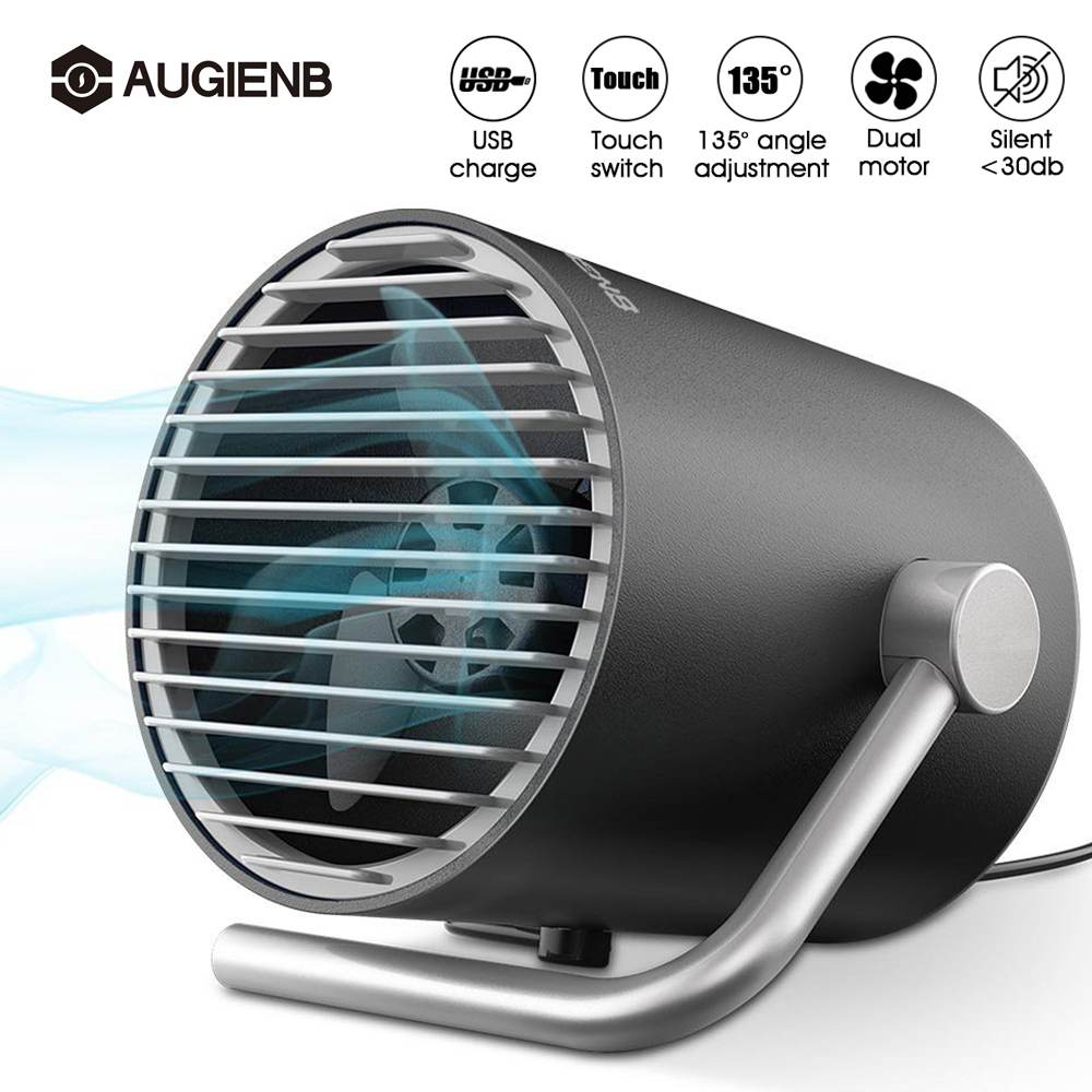personal small desk usb fan mini table fan with twin turbo blades control mute for home office. Black Bedroom Furniture Sets. Home Design Ideas
