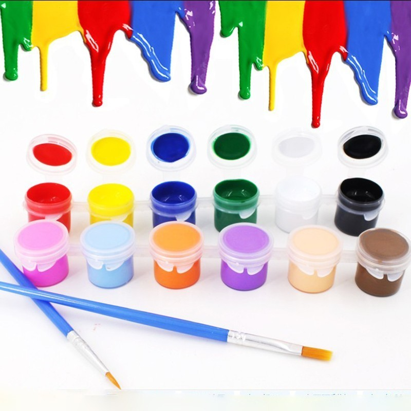 12 Colors Watercolor Pigment Graffiti Painting Drawing Set Paint Brushes For Artist Oil Acrylic Painting Art Supplies 03161