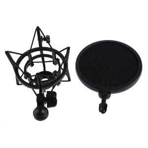 Image 5 - Professional Microphone Mic Shock Mount with Shield Filter Screen Mic Shock Mount Holder Bracket For Large Diaphram Mic