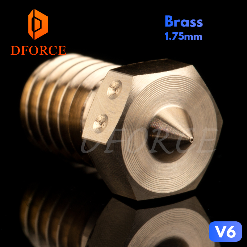 DFORCE 0.15MM Experimental Nozzles High-resolution 0.15mm Nozzles Compatible E3D HOTEND Precision Drilling Nozzle For 3D Printer