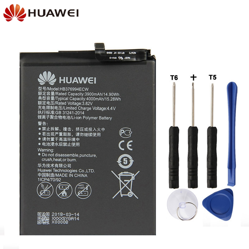 Active Original Replacement Phone Battery For Huawei Honor V9 Honor 8 Pro Duk-tl30 Duk-al20 Hb376994ecw Rechargeable Battery 4000mah Removing Obstruction Mobile Phone Parts