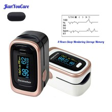 Finger Pulse Fingertip Oled Portable Oximeter SPO2 PR PI 8 hours sleep monitor Blood Oxygen Oximetro pediatrico De Dedo a case