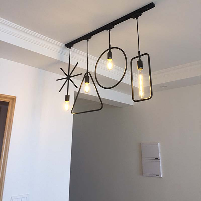 Modern E27 Pendant Light Simple Dining Room Front Desk Bar Vintage Lamp Creative Personality Window Decoration LED Lamps