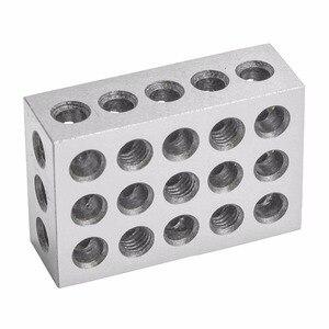"""Image 5 - 2 قطعة/المجموعة صلابة الفولاذ 25 50 75mm كتل 0.0001 """"الدقة المتطابقة الماكنه 123 طحن أداة 23 ثقوب 1 2 3"""" مقياس كتلة"""