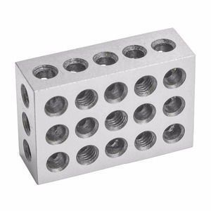 "Image 5 - 2pcs/set Hardened Steel 25 50 75mm Blocks 0.0001"" Precision Matched Machinist 123 Milling Tool 23 Holes 1 2 3"" block gauge"