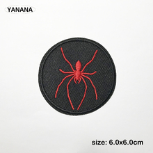 Red spider Embroidered Patches for Clothing DIY Stripes Applique Clothes Stickers Iron on Badges russia logo letter embroidered patches for clothing diy stripes applique clothes stickers iron on creative badges biker parches