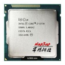 Intel processador quad core, processador para cpu intel core i7 3770 i7 3770 3.4 ghz quad core 8m 77w lga 1155