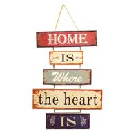 1 Pc Hanging Tag Wooden Creative American Retro Rustic Window Ornament Wall Sign Door Decor for Shopping Mall Office Window Home