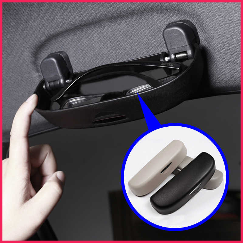 A Little Change Car Sun Visor Glasses Sunglasses Storage Holder Glasses Box for Toyota CHR C-HR 2016-2018 Accessories