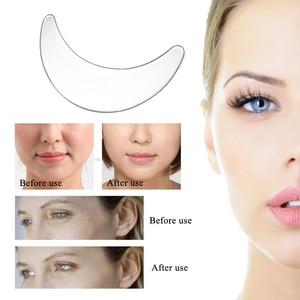 Image 3 - Anti Falten Gesichts Pad Set Wiederverwendbare Medical Grade Silikon Nasolabialfalten Anti aging Maske Verhindern Gesicht Falten