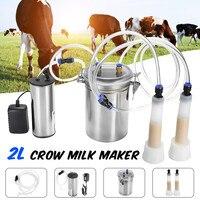 2L Durable Electric Cow Milking Machine 75Kpa Vacuum Pump Milker Double Head EU/US/AU Plug Milking Machine 110V 220V