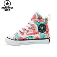 CONVERSE детская обувь высокого помощь Magic субсидии холст с принтом для девочек детская обувь # 756116C