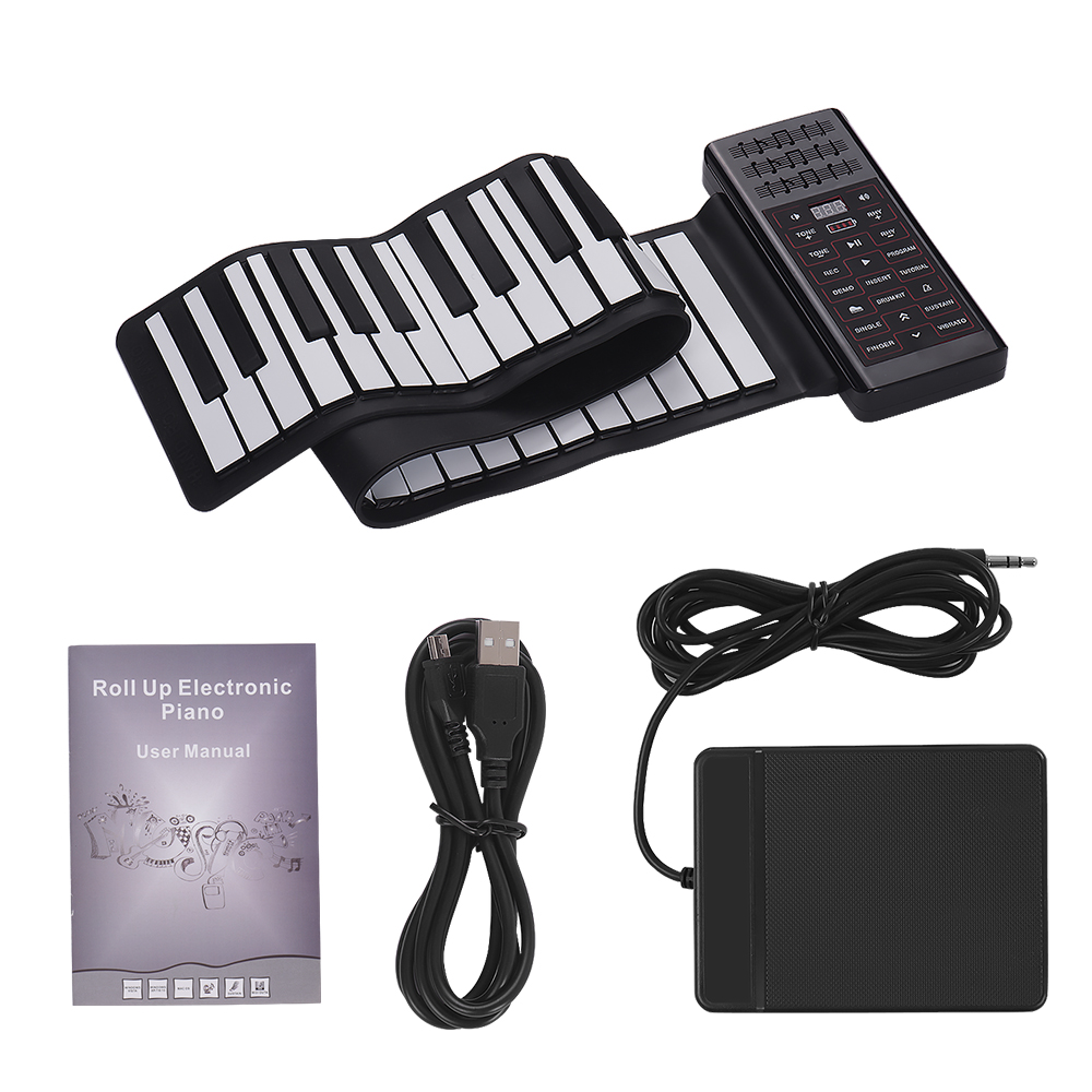 Multifunction Portable Electric 61 Keys Hand Roll Up Piano Flexible Silicone Piano Keyboard Built-in Speaker Lithium BatteryMultifunction Portable Electric 61 Keys Hand Roll Up Piano Flexible Silicone Piano Keyboard Built-in Speaker Lithium Battery
