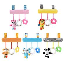 Cartoon Animal Stroller Rattle Toy Infant Squeaky Stroller Hanging Bell