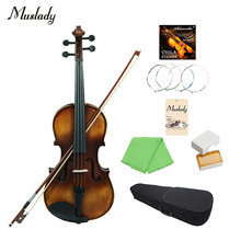 Topboard Muslady VLA-30 4/4 Full Size Clássico Viola Abeto Rosewood Fretboard com Carry Case Resina Pano de Limpeza(China)