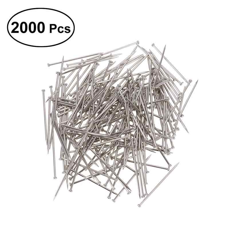 2000 Pieces Head Pins Fine Satin Pin Dressmaker Pins Straight Pins Offices Pins for Jewelry Making Sewing and Craft