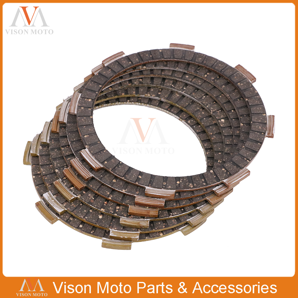 Motorcycle Clutch Friction Plates Disc Set 8pcs For HONDA CR125R CRF150R 06-15 <font><b>CRF150RB</b></font> 07-15 CRF150RII 06 07 08 09 13 14 15 image