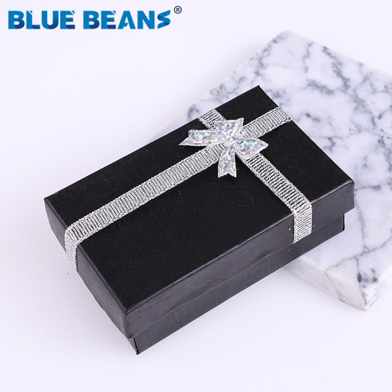 2019New Engagement Ring Jewelry Organizer Shape Black Box Earrings Necklace Bracelet Gift Boxes Holder Carton Bow Case Square ..