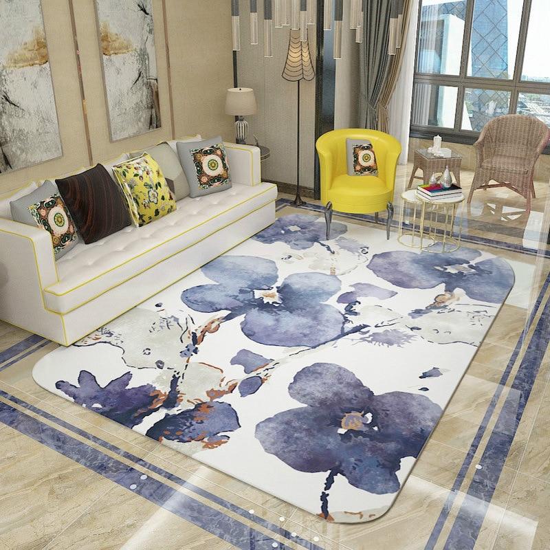 Nordique abstrait cristal velours tapis tapis salon chambre étude Table basse décorer la maison