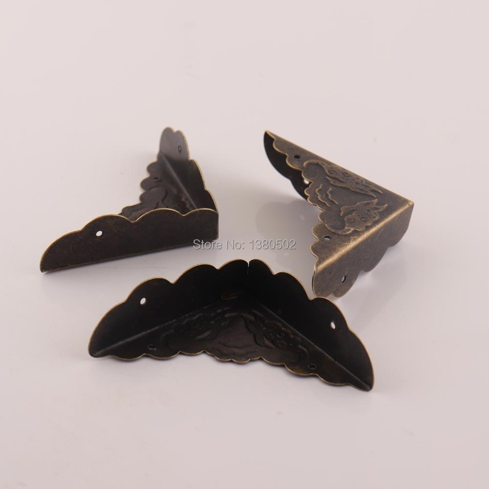 10pcs Antique Bronze Butterfly Metal Jewelry Gift Box Corner Protectors
