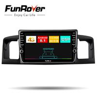 Funrover 8 core android 8.1 2 din Car Radio Multimedia dvd player For TOYOTA Corolla E120 BYD F3 stereo gps navigation head unit