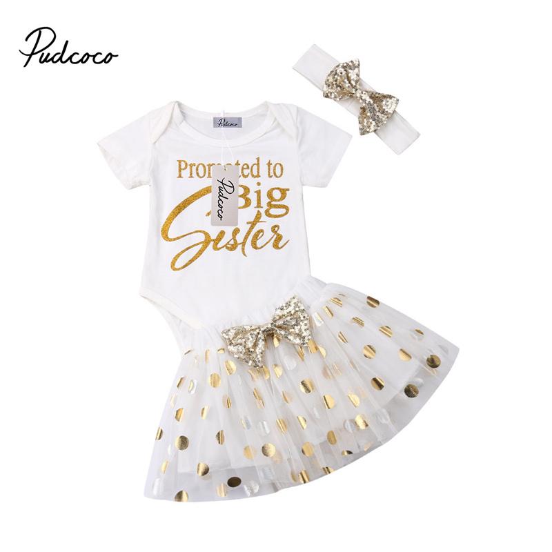 3pcs Newborn Toddler Polka Dot Lace Sunsuit Princess Clothes Set Kids Infant Baby Girl Bodysuit T-shirt Tops Tutu Skirts Dresses To Have Both The Quality Of Tenacity And Hardness Clothing Sets
