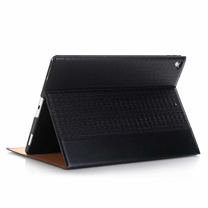 Brilliant For Ipad Pro 12.9 2017 2015 A1670/a1671 Luxury Crocodile Pattern Flip Leather Case With Wallet Card Slots Flip Folio Stand Cover