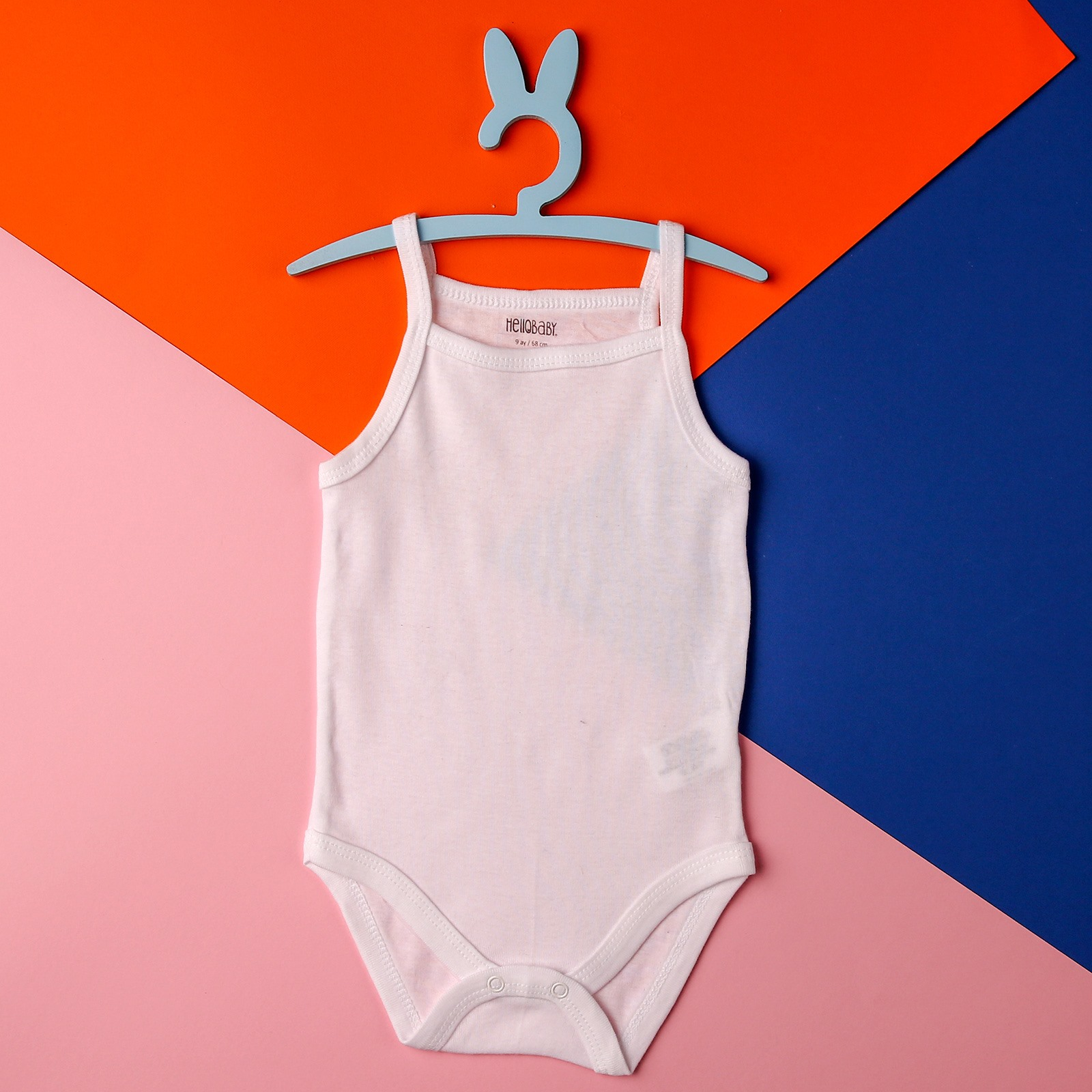 Ebebek HelloBaby White Cotton Bodysuit For Baby Girls And Baby Boys