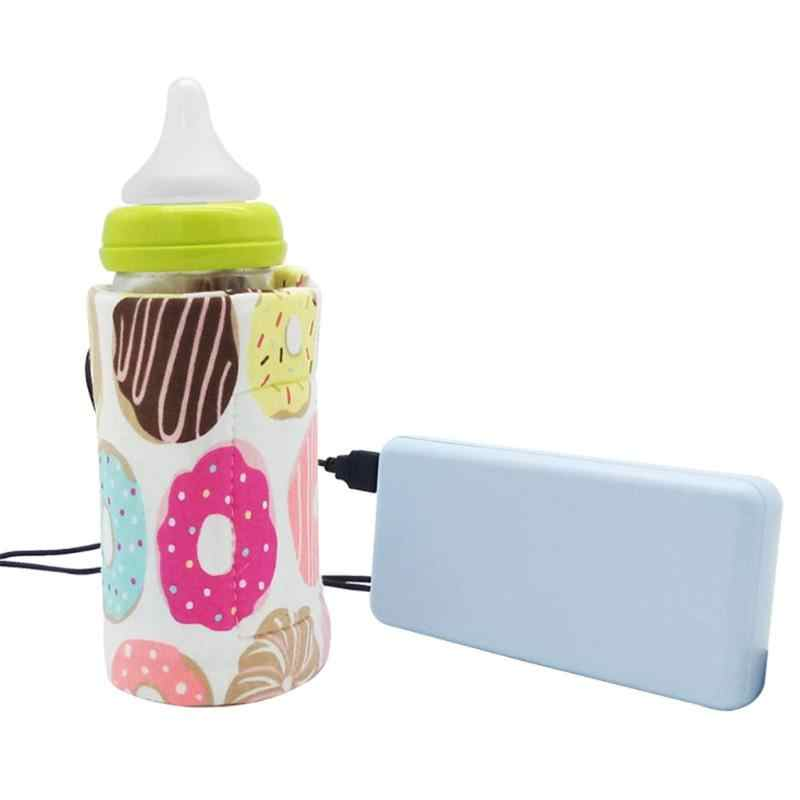 USB Baby Bottle Warmer Portable Milk Travel Cup Warmer Heater Infant Feeding Bottle Bag Storage Cover Insulation Thermostat Bags