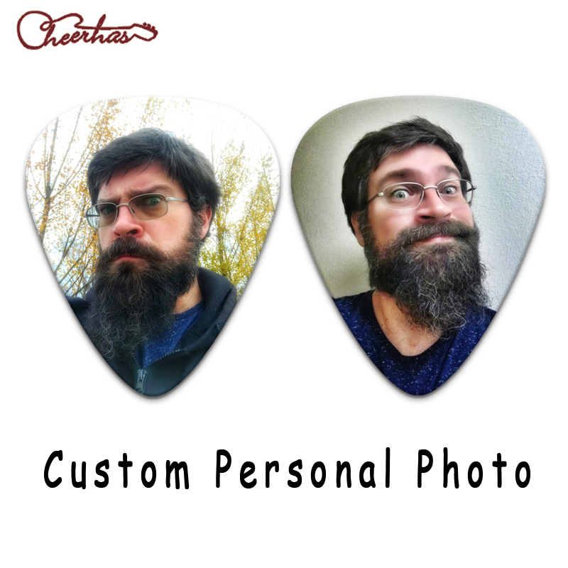 100pcs 500pcs or 1000pcs personalize custom guitar pick-in Детали и аксессуары для гитар from Спорт и развлечения