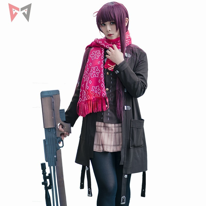 New Girls Frontline cosplay costume WA2000 cos fashion scarf jacket skirt clothing for girl women anime