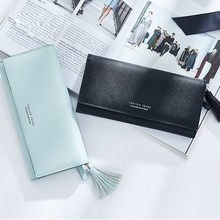 Wallet Female Long Section Korean Fashion Tassel Multi-Card Large Capacity Leather Multi-Function Clutch