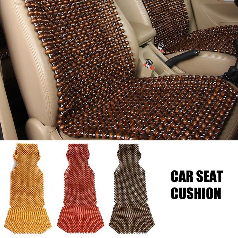 45x130cm Auto Car Cushion Chair Cover Summer Cool Wood Wooden Bead Seat Cover Massage Seat Cushion