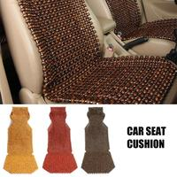 45x130cm Auto Car Cushion Chair Cover Summer Cool Wood Wooden Bead Seat Cover Massage Seat Cushion Car Accessories