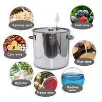 12/36/50/70/100LHome Beer Wine Fermenter Barrel fruit Fermentation Stainless Steel with Thermometer Pot Cover Exhaust