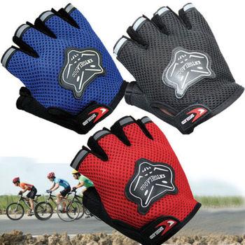 Pudcoco quente 7-16y crianças adultos bicicleta metade dedo luvas ciclismo malha luvas de esporte da bicicleta luvas curtas 4 cores quente 1