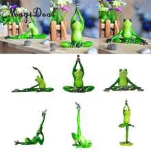 El yapımı reçine 3D Yoga kurbağa figürleri heykelleri araba Dashboard ofis masası raf ekran bahçe bitki Bonsai dekor
