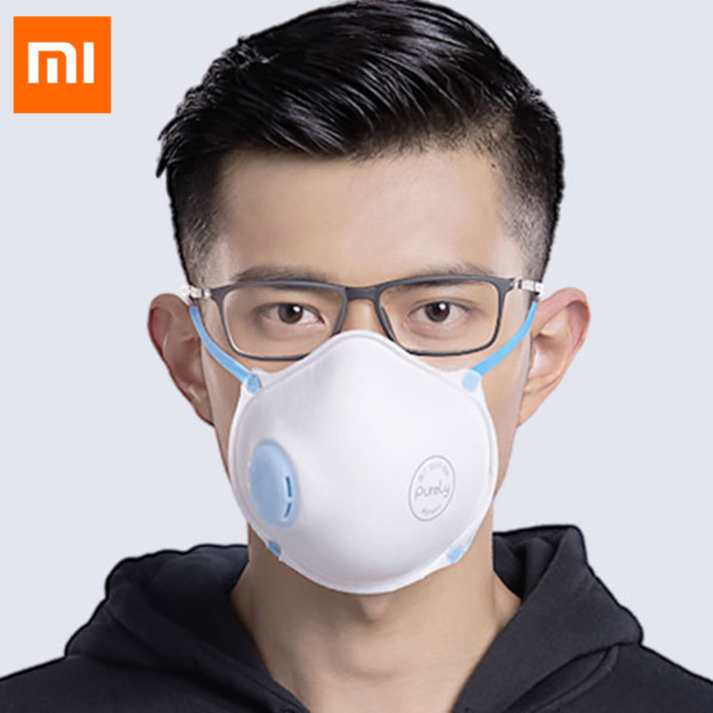 3Pcs Xiaomi Dustproof Anti Fog Mouth Mask Half Face Mouth Mask with Breath Straps Washable Reusable Muffle Respirator Mask