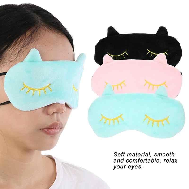 Милые животные плюшевые глаза крышка повязка для сна путешествия повязка для глаз прекрасный кот мультфильм мягкий глаз повязка на глаза для сна Nap маска для глаз для мужчин подарок для девочек