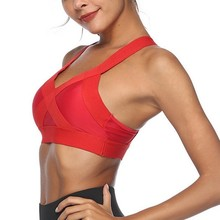Women Sports Bra Sexy Underwear Yoga Push Up Shakeproof Vest Running Padded Workout Breathable Quick Dry Fitness Gym Tank Top