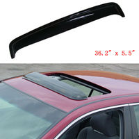 92x14cm Car Sunroof Visor Sun/Moon Roof Rain Guard Wind Deflector Smoky Black