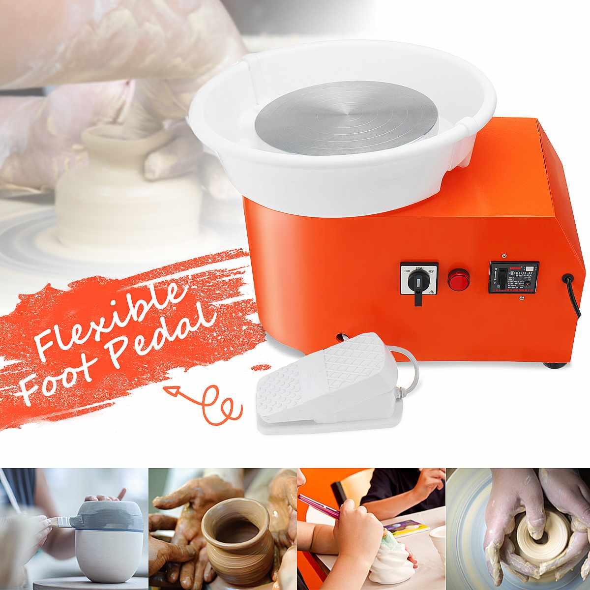 Tour De potier Machine DIY Argile Outil Travail En Céramique Céramique Argile Art Avec Flexible Pied Pédale 220 V Plug UA 350 W Amovible Formant
