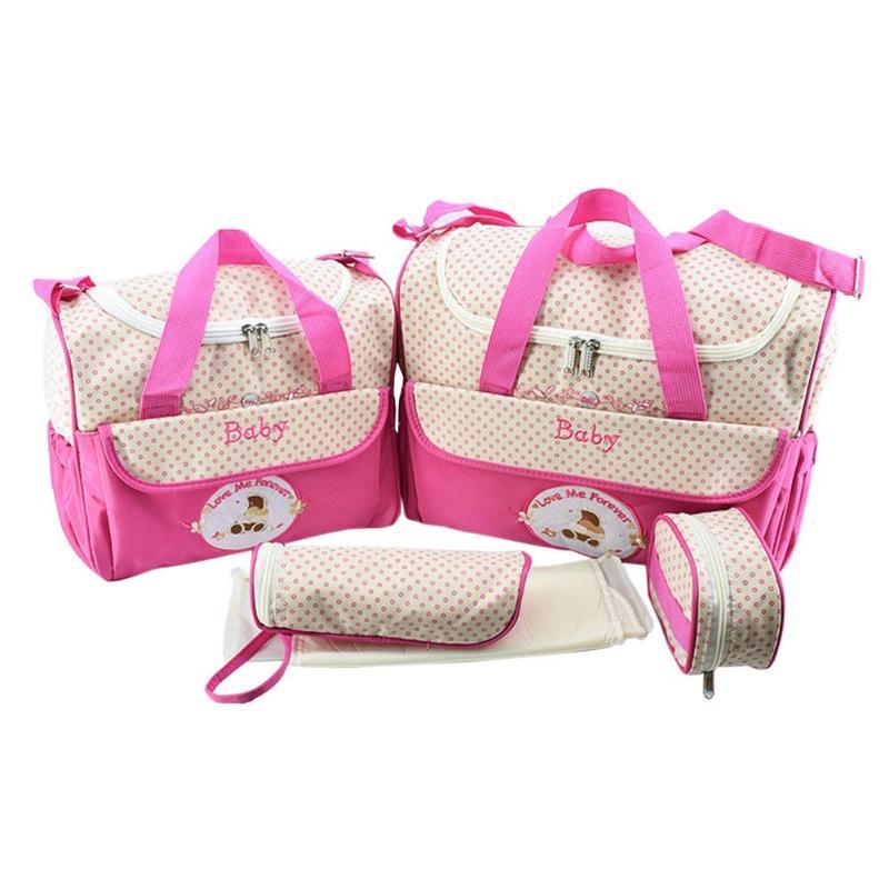 5pcs Mummy Maternity Nappy Bag Large Capacity Baby Bag Travel Backpack Nursing Bag for Baby Care fashion5pcs Mummy Maternity Nappy Bag Large Capacity Baby Bag Travel Backpack Nursing Bag for Baby Care fashion