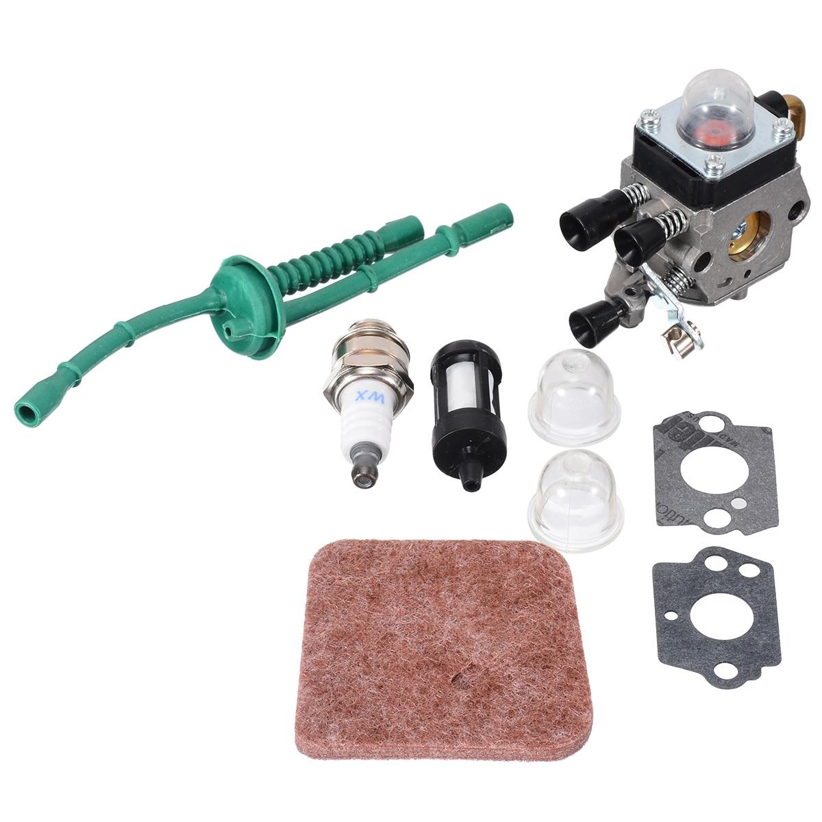 1set Carburetor Kit For FS38 FS45 FS46 FS55 KM55 FS85 Air Fuel Filter Gasket Carb Power Tool Accessory