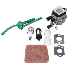 купить 1set Carburetor Kit for FS38 FS45 FS46 FS55 KM55 FS85 Air Fuel Filter Gasket Carb Power Tool Accessory дешево