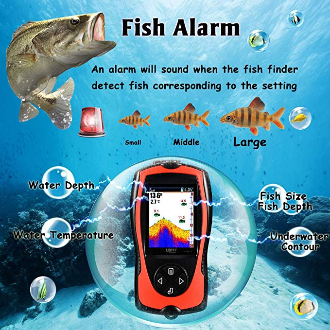 cabo sonar para pesca fishfinders caiaque barco lago gelo 03
