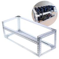 Open Air Mining Miner Frame Cold Rolled Steel DIY Rig Case Crypto Coin Open Miner Frame Case Air Mining Frame